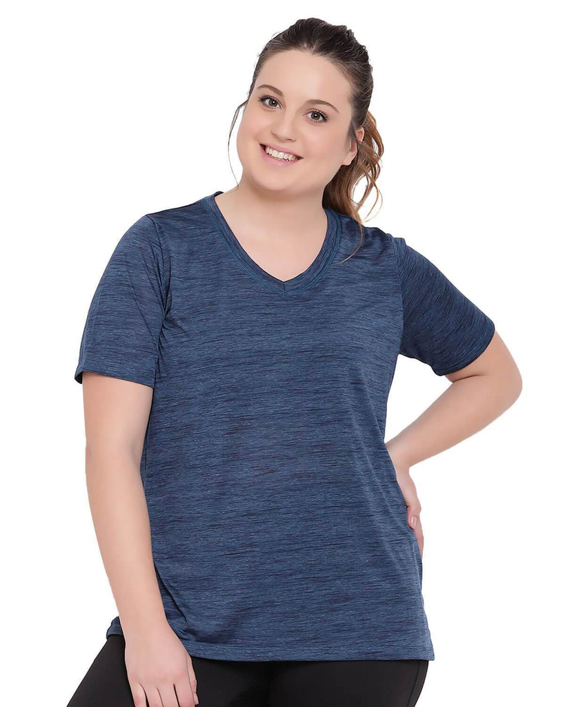 Workout V-neck blue grey t-shirt