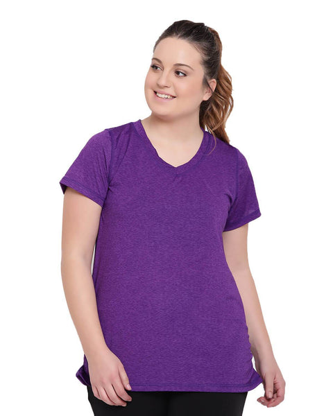 Workout v-neck purple t-shirt