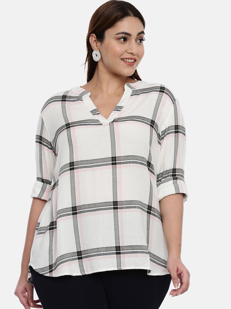 White checked top