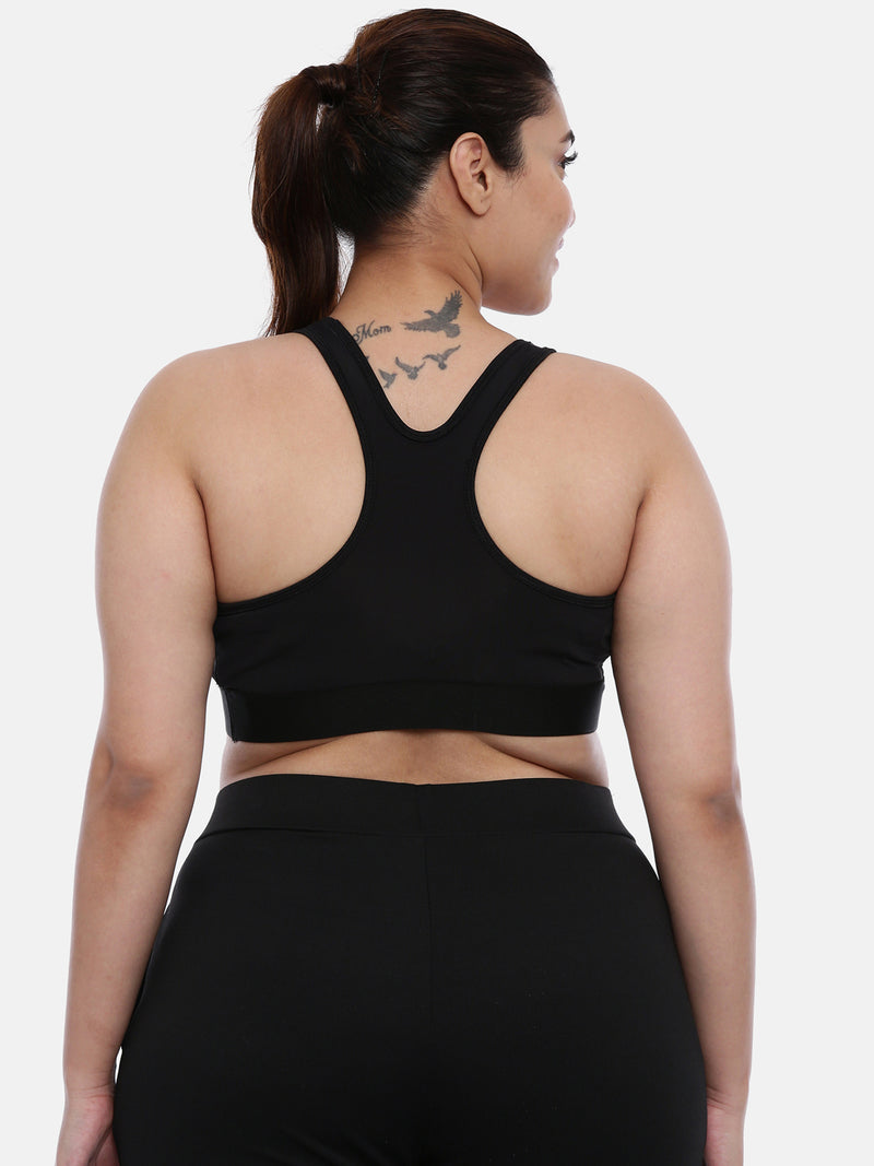 Plus size sports bra black - Large to 6XL