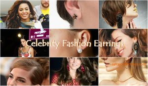 Celebrities Wearing Hoops, Stud and Latest Fashion Earrings 2018