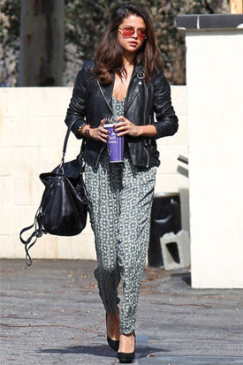 selena gomez rompers jumpsuits over jackets cool fashion