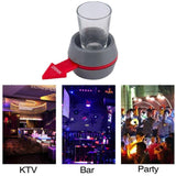 Egnara  1 Set Portable Spin The Shot Drinking Game KTV Bar Wedding Shot Glass Spinner Holder Funny Playing