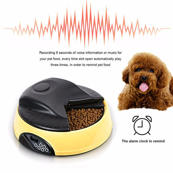 PETPETROL 2018 4 Meals Automatic Pet Feeder Food Trays Bowl Dispenser Setting Fixed Time Non-toxic Container Recording Reminders Pet Supplies
