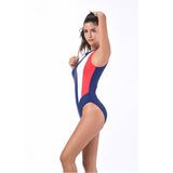 CORDELIA SWIMWEAR 2018 Curve Patchwork Halter Bathing Suits Sports Swimwear