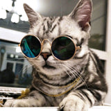 PETPETROL 2018 Pet Trend Fashion Cat Dog Retro Sunglasses Round Metal Frame Pet Accessories