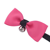 PETPETROL 2018 Adjustable Bow Tie Ribbon Collar with Bell Necklace Pet Accessories