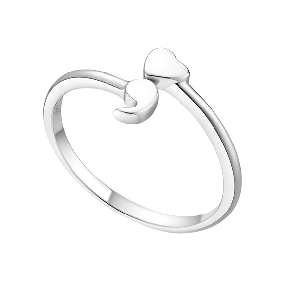 Sattaj Collections I Love My Life Semicolon Ring