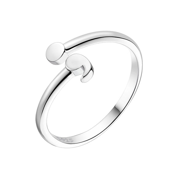 Sattaj 925 Sterling Silver Original Semicolon Ring
