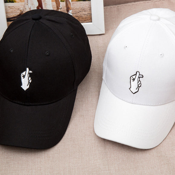 1Pcs Spring Summer Love Gestures Finger Embroider Golf Baseball Cap Flipper Little Heart Love Sun Truck Hat Gorras