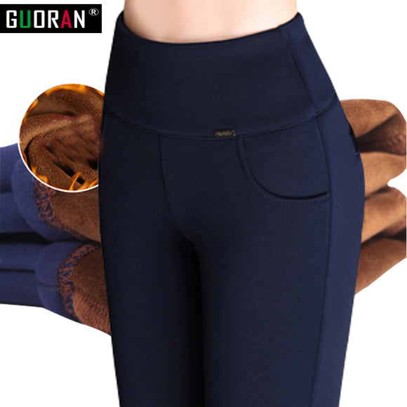 2016 Winter warm velvet thicken Women Pencil Pants Candy Color High elasticity Female Skinny pants female trousers Leggings
