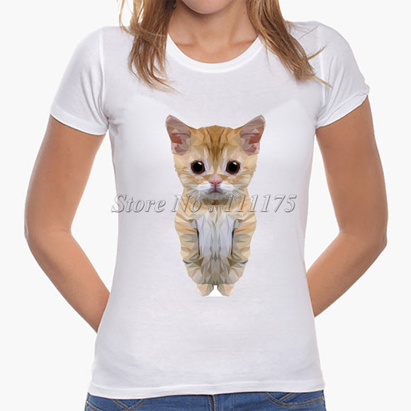 2017 Latest Fashion Women Cute moe Cat T shirt  Hot Sale Cat Tops Fashion Novelty Lady Casual Short Sleeve Tees