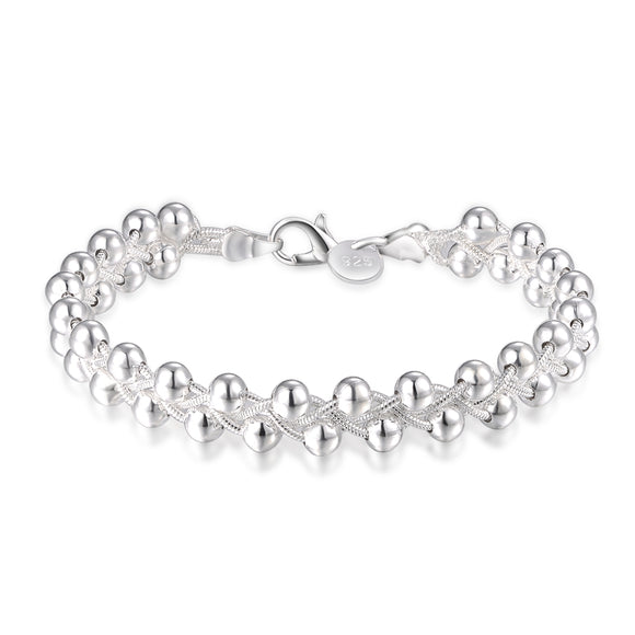 factory direct new high quality Wedding cute silver plated fashion pretty  beautiful women retro Grapes bracelet LH002