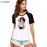 Bad girls Alice / Snow White / The Little Mermaid princess Cotton Casual T-Shirt
