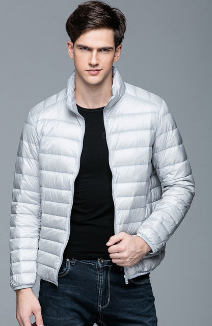 e5bfbea7f1c Autumn Winter man Duck Down Jacket Ultra Light Thin Plus Size Spring  Jackets Men ...