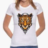 2017 Latest Fashion Women Cute Cat Pinted T shirt  Cool Cat Design Tops Novelty Lady Short Sleeve Tees