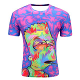 2016 Men's Fashion Animal Creative T-Shirt Mushroom cloud/Pizza Cats/water droplets 3d printed short sleeve T Shirt Men's Tops