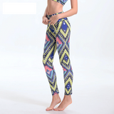 Women Aztec Print Leggings Activewear Workout Clothes Long Spandex Highwaisted Pants Ladies Jeggings Fitness Leggins LD263