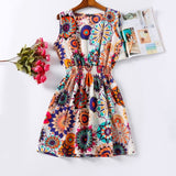 Summer Women Dress Vestidos Print Casual Low Price China Clothes Femininas Roupas Office Ladies Female Bohemian Mini Beach Dress