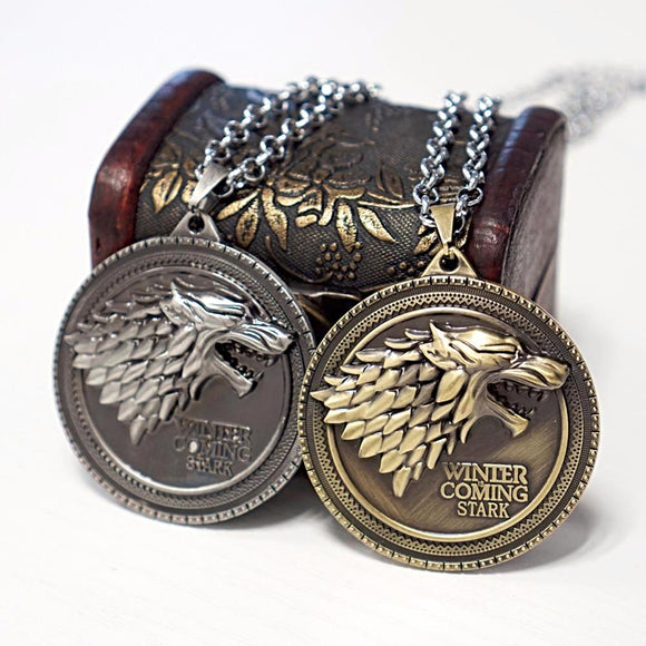 Game of Thrones- House Stark Wolf Symbol Necklace
