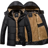 Thick Warm Winter Jacket Men Overc Jackets Detachable Hat High Collar Outerwearoat Fluff Lining Coats Parka Casual