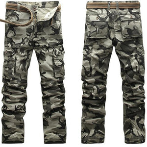 Active 2017 Men Spring Army Green Fashion Cargo Pants Crotch jogger Patchwork Pants Male Easy Wash Big Camouflage Cargo Trousers