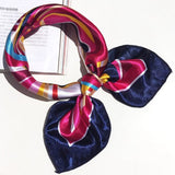 50x50cm Women Bandanas Multifunction Polyester Silk Scarf Prints Satin Small Square Shawls and Scarves Foulard Neckerchief