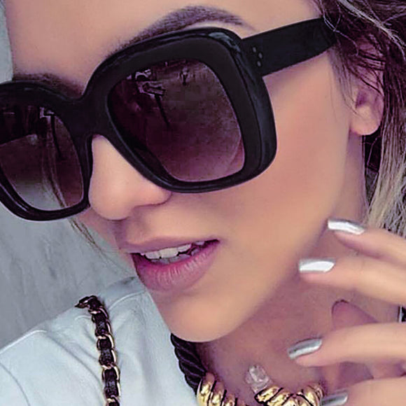 Winla TOP Fashion Sunglasses Women Popular Brand Designer Square Style Sun Glasses For Women Lady Glasses Female Rivet Shades UV