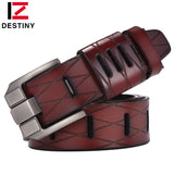 Top Genuine Leather Belts Men Luxury Brand Designer High Quality Military Strap Male Wide Pin Buckle For Jeans Cowather