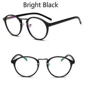 ANEWISH Round Eyes Glasses Frame Men Women Ultra Light Vintage Myopia Eyeglasses Frame Plain Lens oculos de grau femininos
