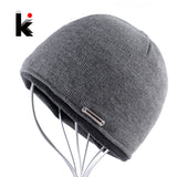 2017 Autumn Winter Beanie Hat Plus Thicker Velvet Men Knitted Cap Hip Hop Skullies Bonnet Beanies Skis Skating Mens Hats For Men