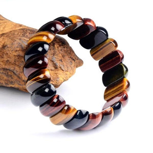 Tiger Eye Natural Stone Charm Bracelet