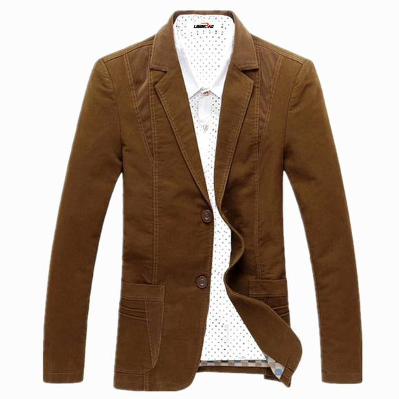 Spring-Autumn 2017 Men's Casual Suit Blazer Slim Fit Men's Suit Jacket Casual Business Plus Size 6XL Men Cotton Coat Outerwear