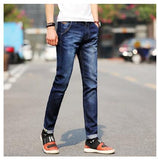 Brand Men Jeans Size 28 to 38 Black Blue Stretch Denim Slim Fit Men Jean for Man Pants Trousers Jeans(asian size)