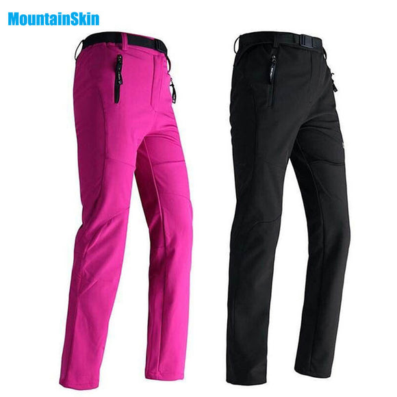 2017 Women Winter Inside Fleece Pants Outdoor Waterproof Sports Thick Brand Clothing Hiking Camping Skiing Female Trousers MB008