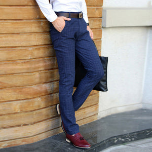 2017 New Pants Men Spring Autumn Fashion slim fit Casual Pants Men Straight Dress Business Suit Trousers brand Mens Pant For Man