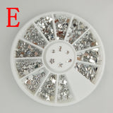Wholesale Hot 9 Styles Nail Art Tips Decoration Crystal Glitter A B Rhinestone Nail Tools With Wheel NA153