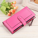 Mara's Dream Women Wallet Long Designer Leather Coin Purses Female Clutch Credit Card Holders Solid Candy Color Hasp Wallet Girl