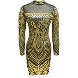 Summer Women XXXL Plus Size Rose Gold Geometric Pattern Sequin Bodycon Dress Womens Sexy Dresses Party Night Club Dress