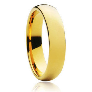 Never fading classic 6mm wide ring for men women 18KGF gold filled lovers wedding rings USA SIZE