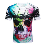 2017 High Quality Water Droplets Move Printed 3D T-shirts Punk 3D Short Sleeve T-Shirt M-4XL /6 style Men's T-Shirts