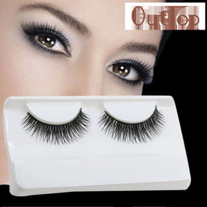 Sexy 1 Pair Handmade 3D mink hair Beauty Thick Long False Mink Eyelashes Fake Eye Lashes Eyelash High Quality MY033