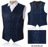 Brand New Wedding Mens Waistcoat Top Swirl Paisley Floral  Slim Fit Waistcoat Suit Coletes Homem Vest 7Color Available