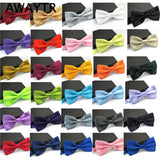 AWAYTR 2017 Ties for Men Fashion Tuxedo Classic Mixed Solid Color Butterfly Wedding Party Bowtie Bow Tie