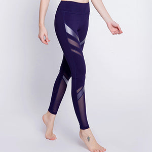 Mesh Splice Stretch Quick-drying Breathable Leggings Active wear