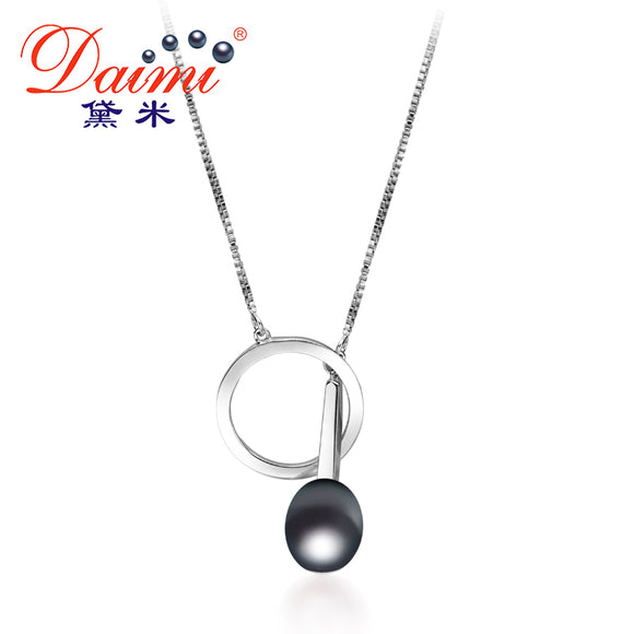 DAIMI 9-10mm Tear Drop Freshwater Pearl Pendant In 925 Sterling Silver Chain Pendant Necklace Hot Design Fine Jewelry