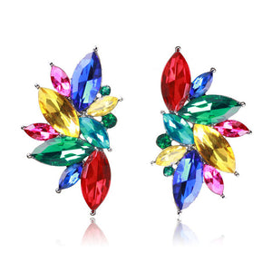 Ztech Opal Stone Stud Earrings Christmas Party 2017 Brand New Elegant Crystal Earrings For Women Trendy Golden Women Earrings
