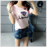 2017 new Print punk Blouses Women Cotton summer Blouses For Lady harajuku brand female sexy Tops tee