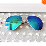 FOENIXSONG Brand New Aviator Pilot Men Sunglasses Sun Glasses for Women Oculos De Sol Mirrored UV Eyewear Goggles Gafas Cases
