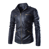 2017 New Autumn Leather Jacket Men Jaqueta De Couro Masculina Brand Mens Jackets And Coats Chaqueta Hombre Motorcycle Jacket